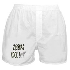 Zebras Rock ! Boxer Shorts