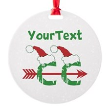 Customize Cross Country Xmas Ornament