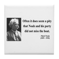 Mark Twain 23 Tile Coaster