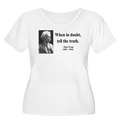 Mark Twain 24 Women's Plus Size Scoop Neck T-Shirt