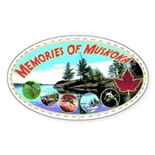 Memories of Muskoka Oval Decal