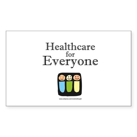 Healthcare for everyone Rectangle Sticker