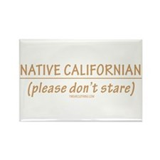 Native CA Dont Stare Rectangle Magnet