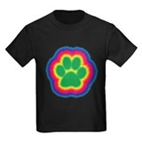 Tye Dye Paw Print T