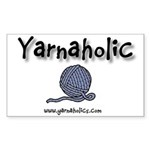 Yarnaholic Rectangle Sticker