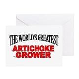 """The World's Greatest Artichoke Grower"" Greeting C"