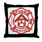 Masonic Firefighter, Past Master Throw Pillow