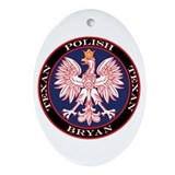 Bryan Round Polish Texan Oval Ornament
