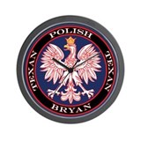 Bryan Round Polish Texan Wall Clock