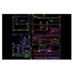 Nintendo NES Metroid Map - Large Poster