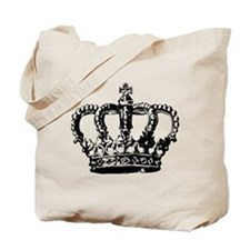 Black Crown Tote Bag