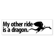 Dragon Ride Bumper Bumper Sticker