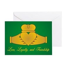 Love, Loyalty & Friendship Claddaugh Greeting Card