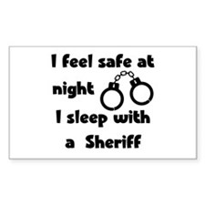 Sleeep with a Sheriff Rectangle Decal