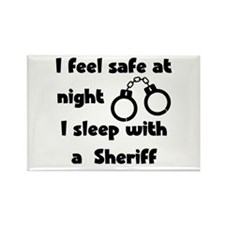Sleeep with a Sheriff Rectangle Magnet