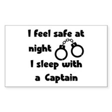 Sleep with a Captain Rectangle Decal
