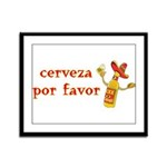 Cerveza Por Favor @Scott Designs Framed Panel Prin