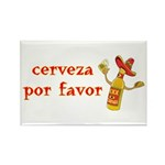 Cerveza Por Favor @Scott Designs Rectangle Magnet