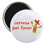 Cerveza Por Favor @Scott Designs Magnet