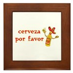 Cerveza Por Favor @Scott Designs Framed Tile