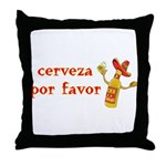 Cerveza Por Favor @Scott Designs Throw Pillow