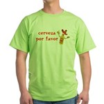 Cerveza Por Favor @Scott Designs Green T-Shirt