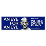 AN EYE FOR AN EYE Bumper Car Sticker