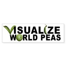 VISUALIZE WORLD PEAS Bumper Bumper Sticker