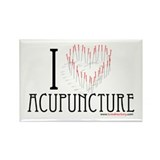 I Heart Acupuncture Rectangle Magnet (100 pack)
