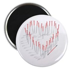 "Acupuncture Needle Heart 2.25"" Magnet (10 pac"