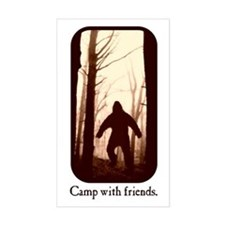 Camp with Bigfoot Rectangle Bumper Stickers
