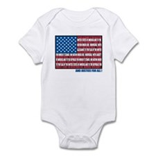 Flag Pledge of Allegiance Infant Bodysuit