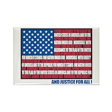 Flag Pledge of Allegiance Rectangle Magnet (10 pac