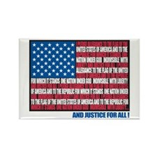 Flag Pledge of Allegiance Rectangle Magnet (100 pa