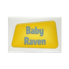 Baby Raven Rectangle Magnet (100 pack)