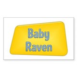 Baby Raven Rectangle Decal