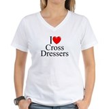 "I Love (Heart) Cross Dressers"" Shirt"