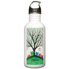 Birdhouse Stray Cats Water Bottle
