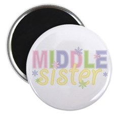 "Middle Sister Flowers 2.25"" Magnet (10 pack)"