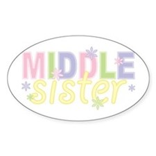Middle Sister Flowers Oval Decal