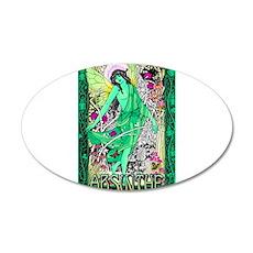 Absinthe Green Fairy 20x12 Oval Wall Decal