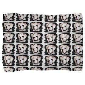 White Boxer Puppy Pillow Sham