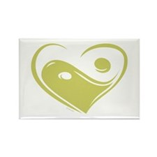 Ying Yang Love Rectangle Magnet