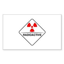 Warning Radioactive Rectangle Decal
