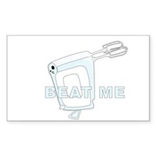 Beat Me Rectangle Decal