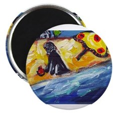"Flattie at the Beach 2.25"" Magnet (100 pack)"
