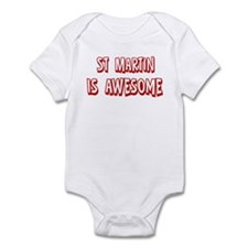 St Martin is awesome Infant Bodysuit