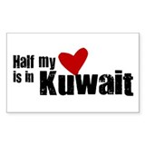 Half my heart Kuwait Rectangle Decal