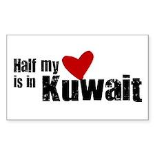 Half my heart Kuwait Rectangle Decal
