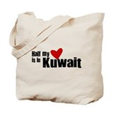 Half my heart Kuwait Tote Bag